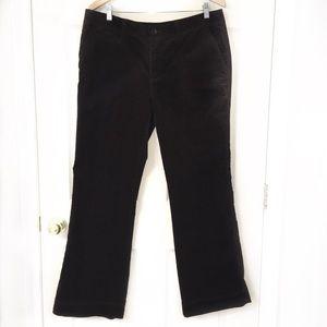 Eddie Bauer NWOT corduroy pants dark brown